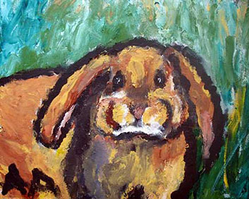 Anne Abbott's portrait of Royal the bunny