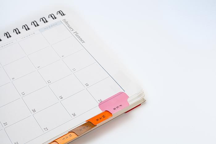 planner, organize, meetings