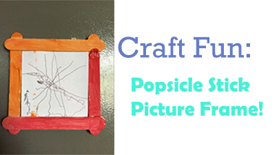 Popsicle stick picture frame