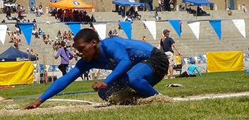 Ahkeel lands the long jump