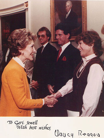 Geri Jewell and Nancy Reagan