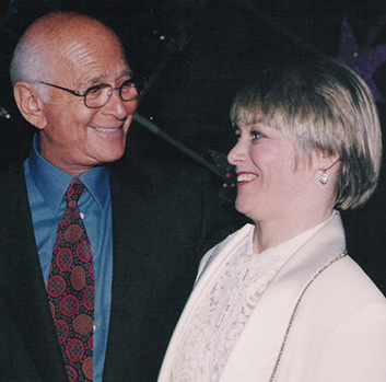 Geri Jewell and Norman Lear