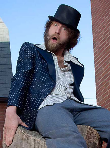 Josh Blue in blue suit