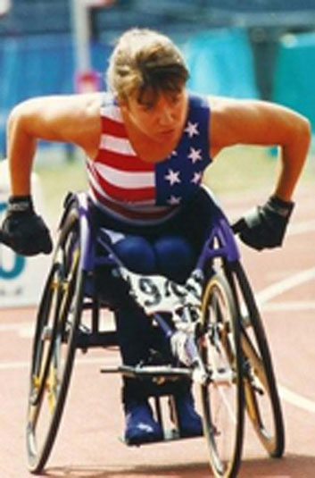 Linda Mastandrea in Paralympic Games in Atlanta, Georgia