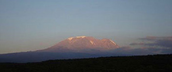 Mount Kilimanjaro in the African nation of Tanzania
