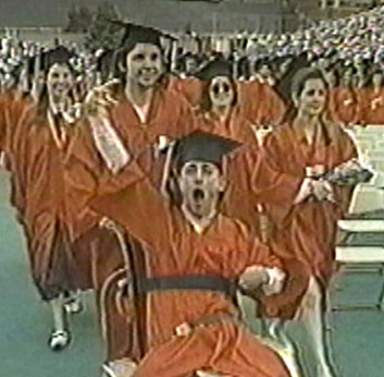 Rick Hoyt at Graduation Ceremony