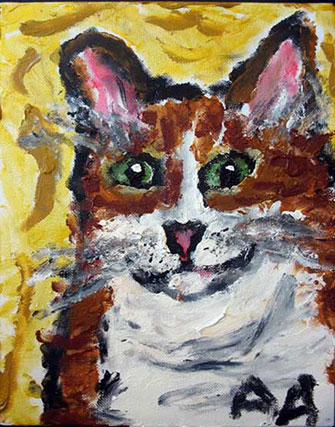 Anne Abbott's cat portrait