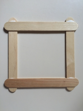 Popsicle Stick Picture Frame Craft Project